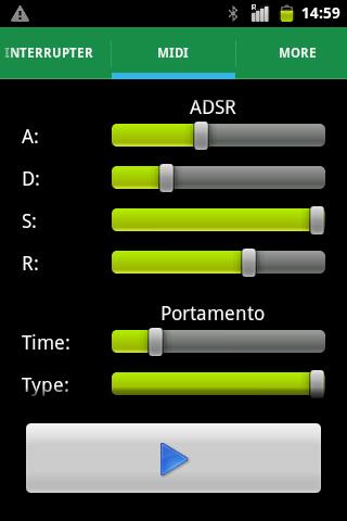 Настройки ADSR и Portamento