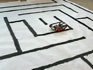 beam-robot в лабиринте